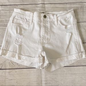 Hollister high rise distressed jean shorts
